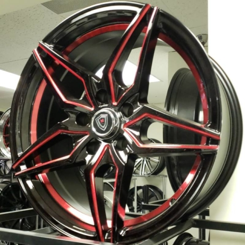 """M3259 Black and Red 17"""", 18"""""""