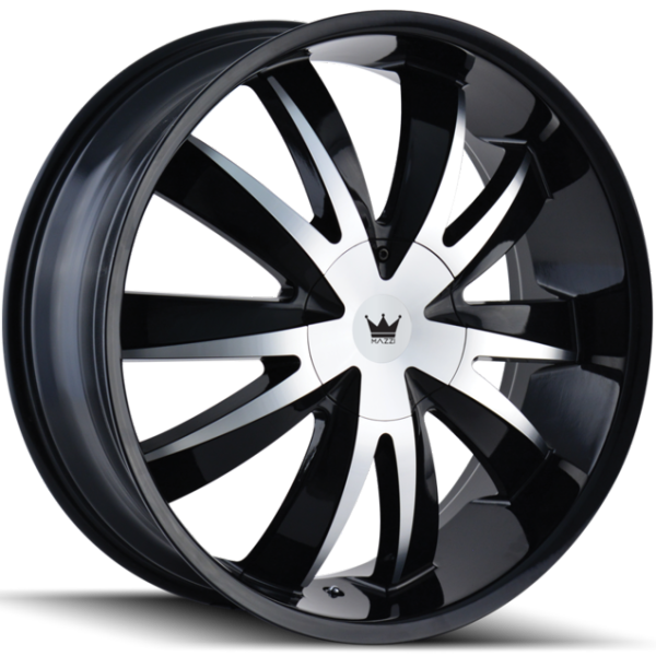 Mazzi Edge 337 Machined Black Wheels