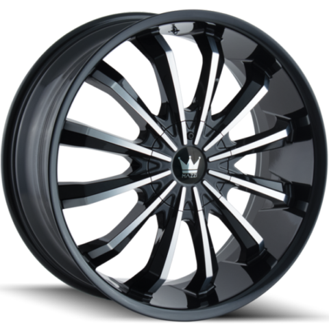 Mazzi Fusion 341 Black Machined Wheels