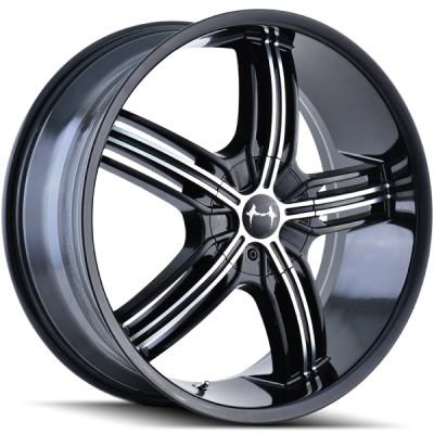 Mazzi 365 Galaxy Black Machined Wheels