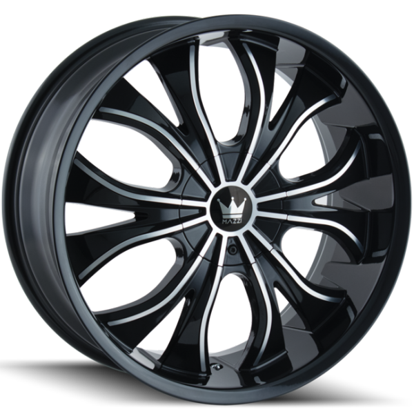 Mazzi Hustler 342 Black Machined Wheels