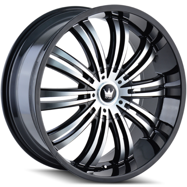 Mazzi Swank 363 Machine Black Wheels