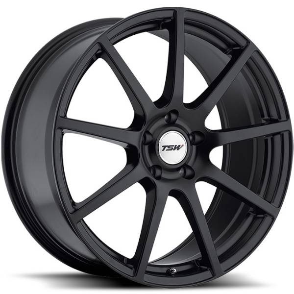 TSW Interlagos Matte Black Wheels