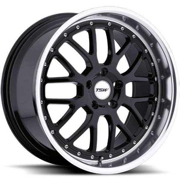 TSW Valencia Gloss Black Wheels