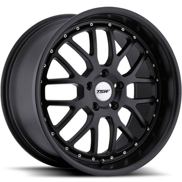 TSW Valencia Matte Black Wheels