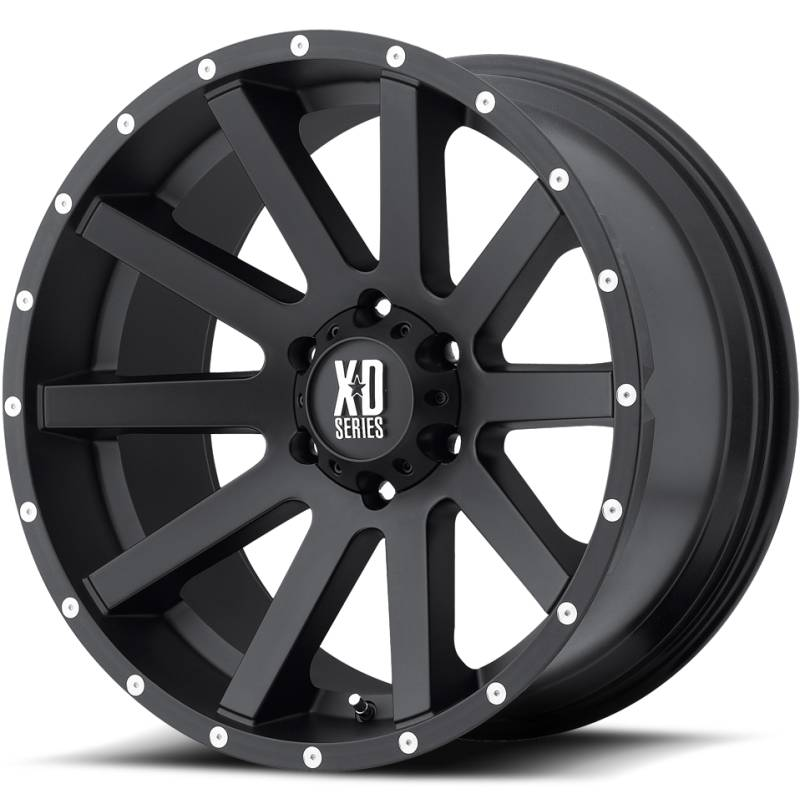 Xd Series XD818 Heist Satin Black Wheels