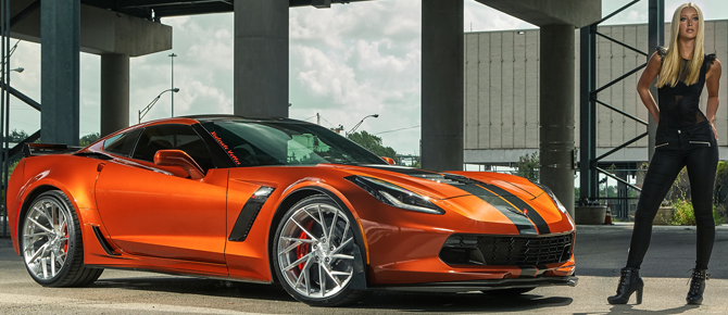 2016 Corvette Z06 On Forged USF01 Monoblock Wheels