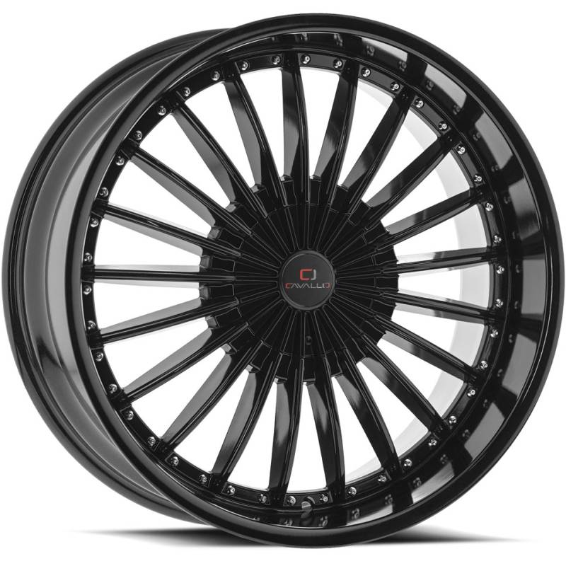 Cavallo CLV-32 Gloss Black Wheels