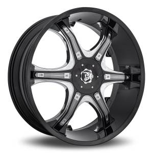"26"" Diablo Grill Black with Chrome Inserts"