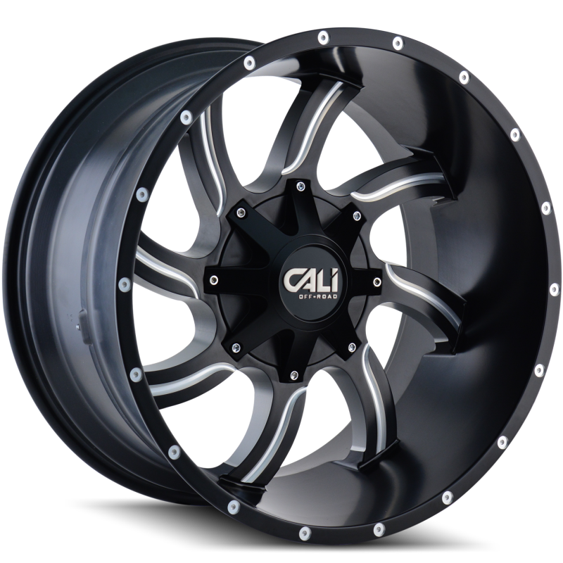 Cali Off-Road 9102 Twisted Black Wheels