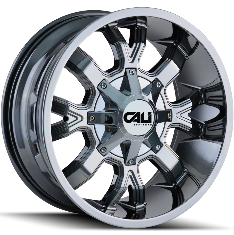 Cali Off-Road 9104 Dirty Chrome Wheels