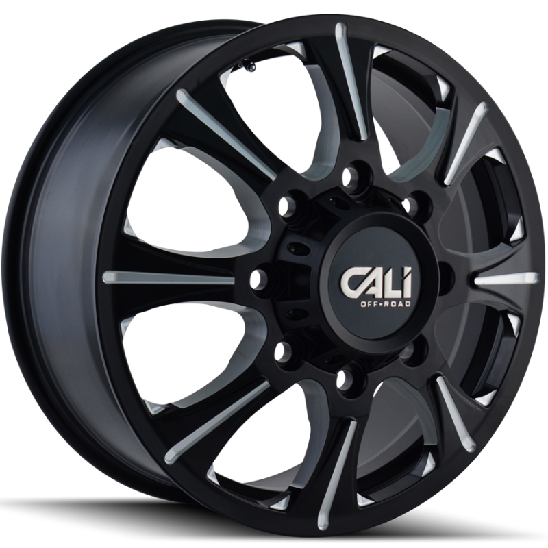 Cali Off-Road 9105 Brutal Black Front Dually Wheels