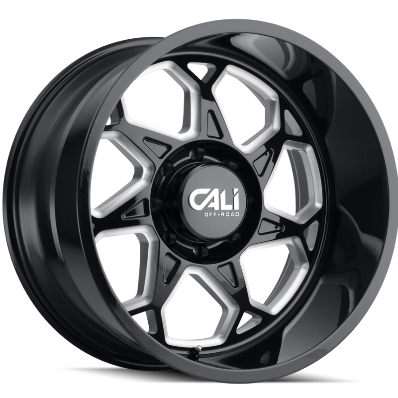 Cali Off-Road 9111 Sevenfold Black Wheels