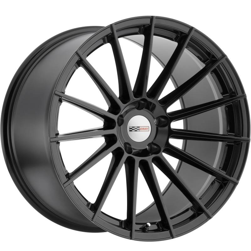 Cray Mako Gloss Black Wheels for Corvette