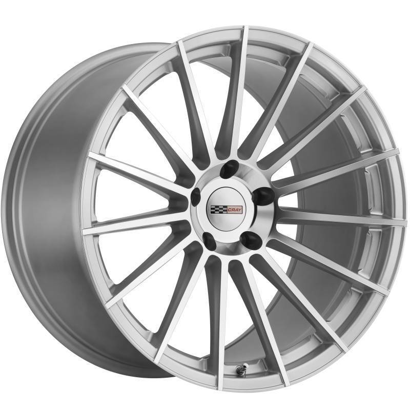 Cray Mako Silver Machined Wheels for Corvette