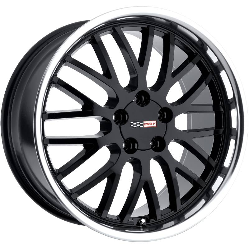 Cray Manta Gloss Black Wheels with Machined Lip