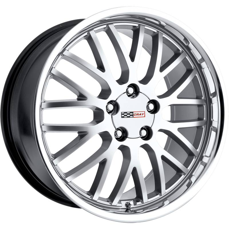 Cray Manta Hyper Silver Wheels for Corvette