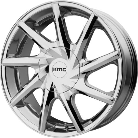 KMC KM705 Burst Chrome Wheels