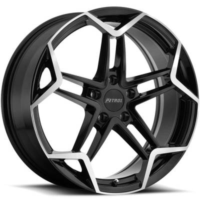 Petrol P1A Black Machined Wheels