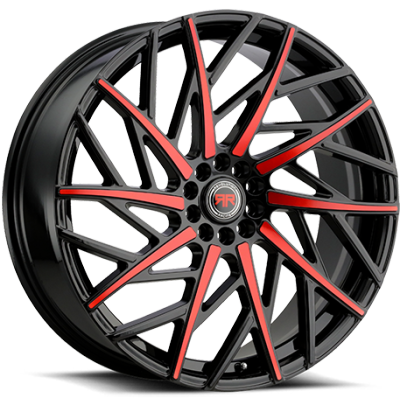 Revolution Racing RR21 Black and Red Wheels