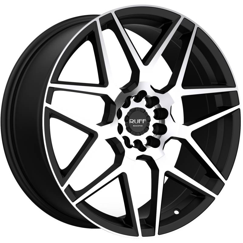 Ruff R351 Machined Flat Black Wheels
