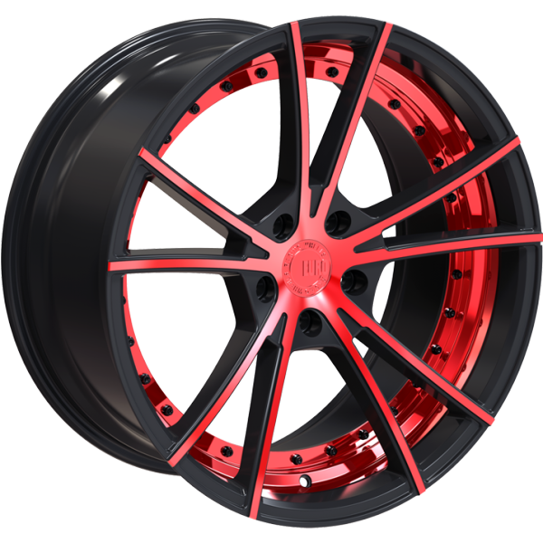Euro Racing Wheels ERW003 Black and Red