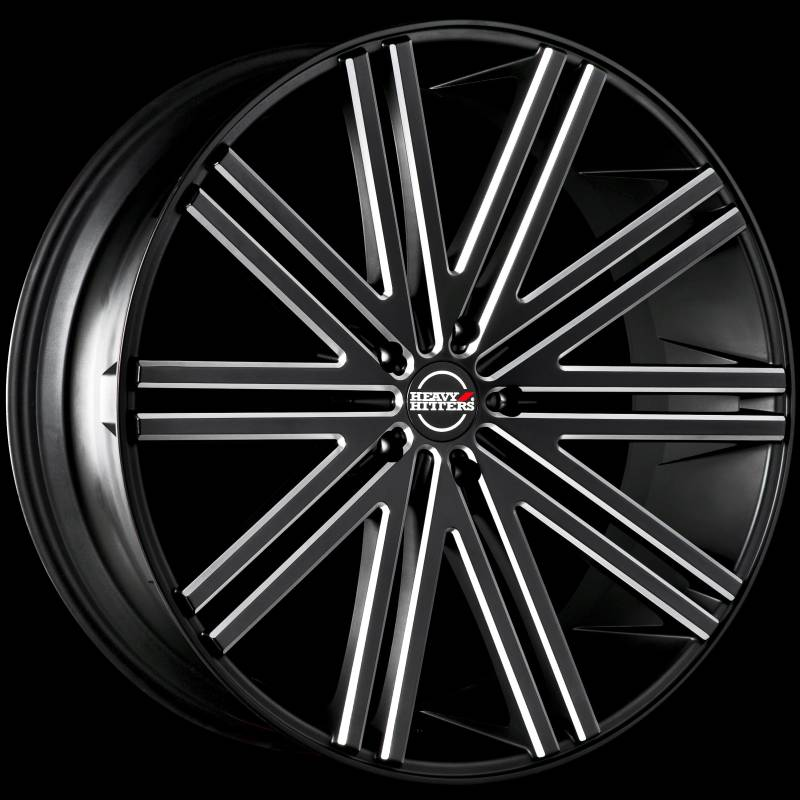 Heavy Hitters HH11 Black Milled Wheels