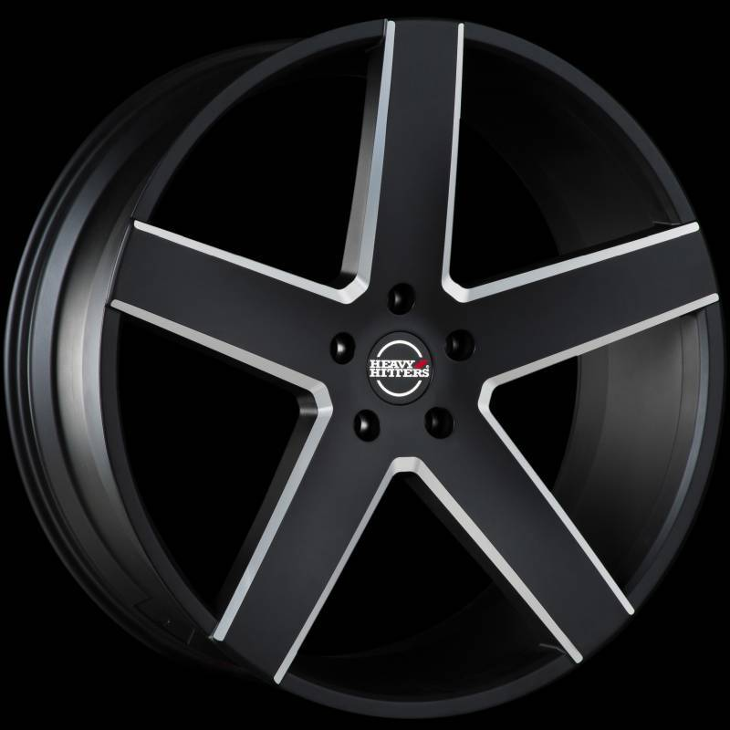 Heavy Hitters HH15 Black Milled Wheels