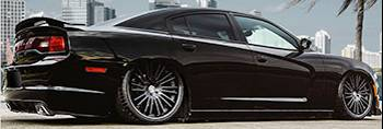 Dodge Charger shown with Lexani Virage Wheels