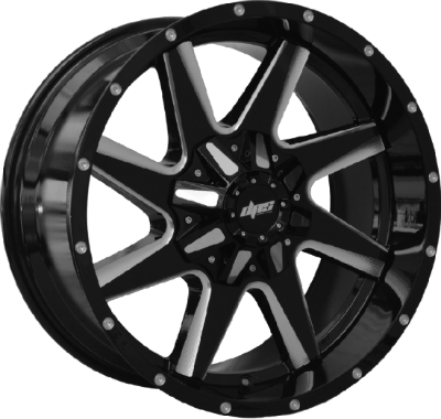 DPS Wheels A5562 Gloss Black Machined