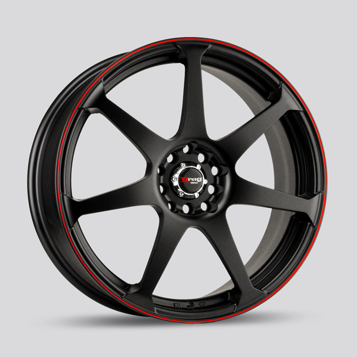 Drag DR33 Flat Black with Red Stripe