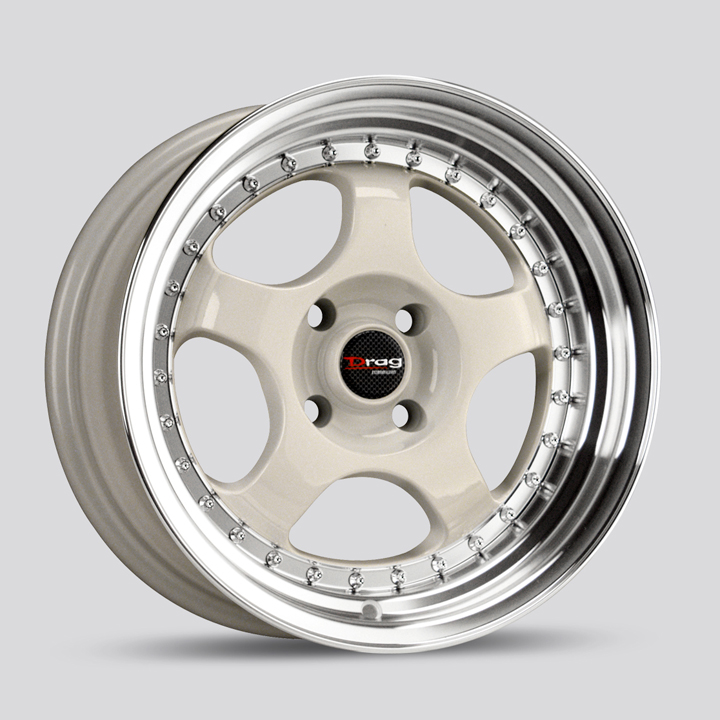 Drag DR46 White Wheels