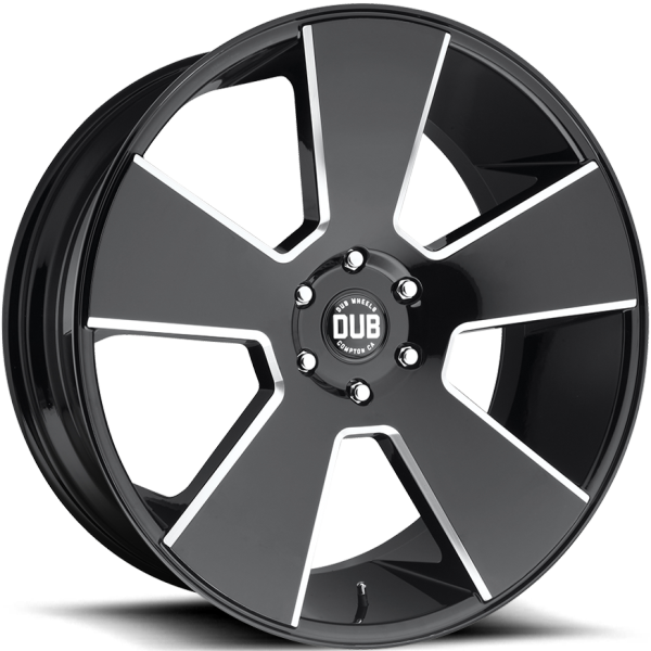 DUB Del Grande Gloss Black Milled Wheels