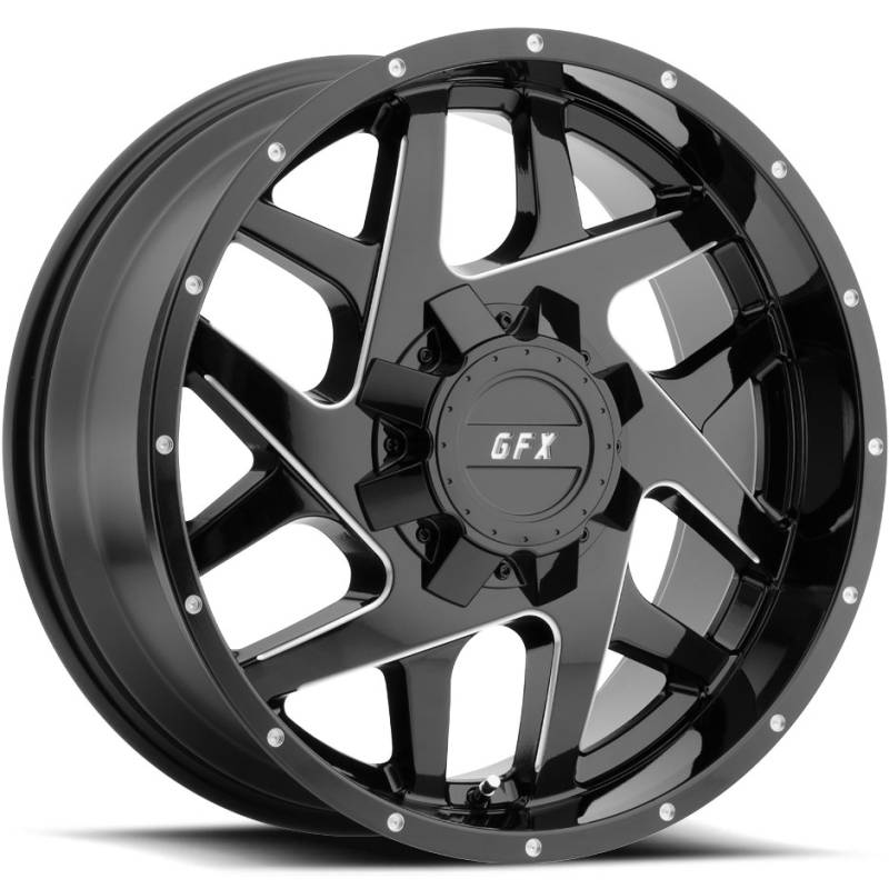 GFX TM2 Black Milled Wheels