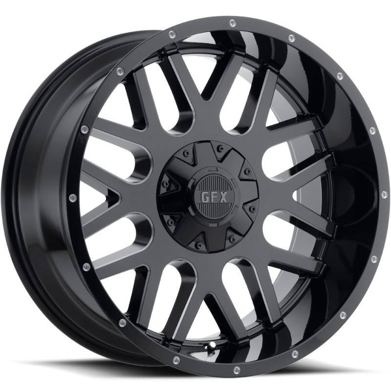 GFX TM4 Black Milled Wheels