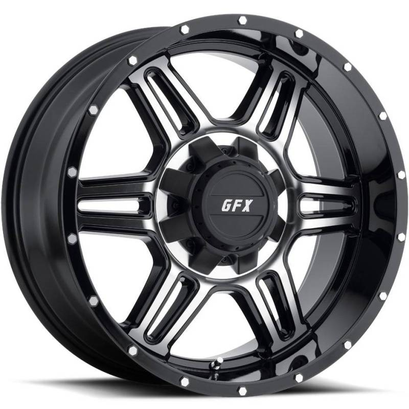 GFX TR6 Machine Black Wheels