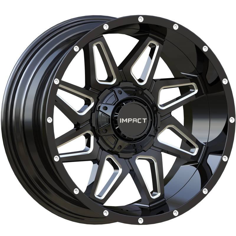 Impact Off-Road 807 Gloss Black Milled