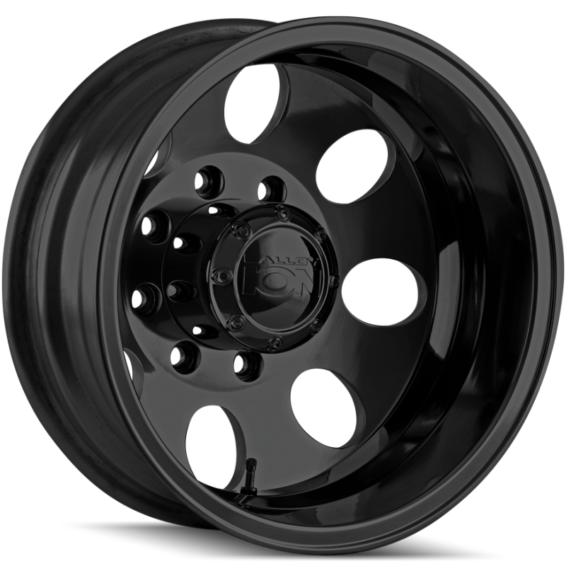 Ion Wheels 167 Satin Black Rear Dually