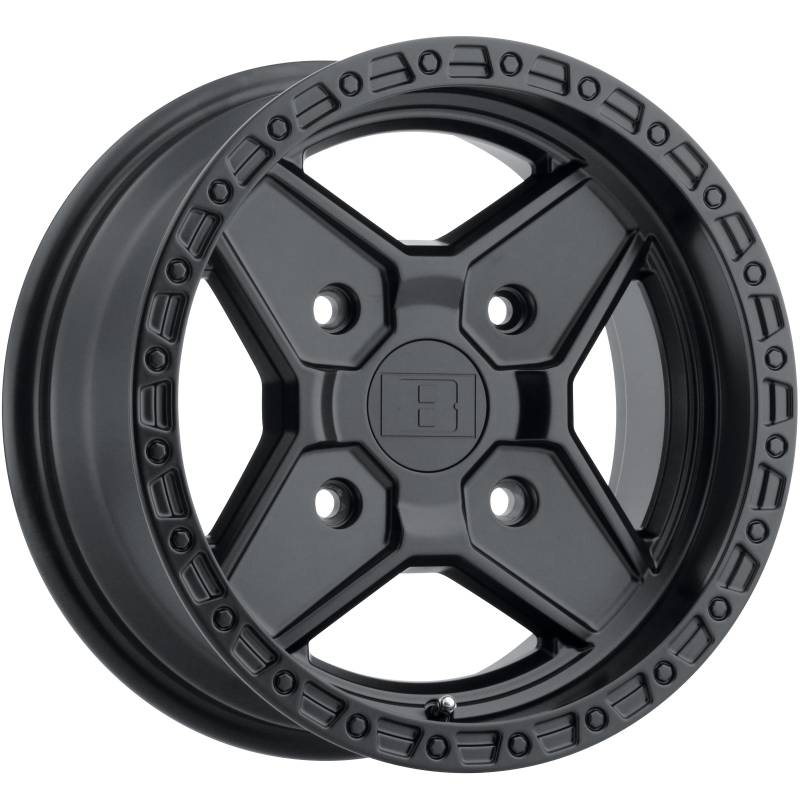 Level 8 Motorsports Intruder Matte Black UTV Wheels