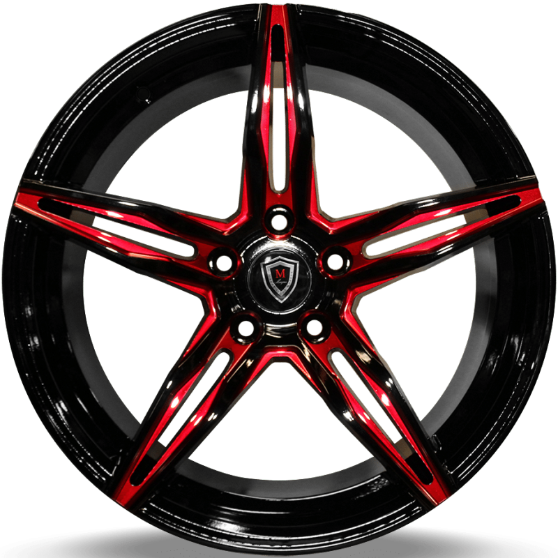 Marquee M8888 Black with Red Milled Accents