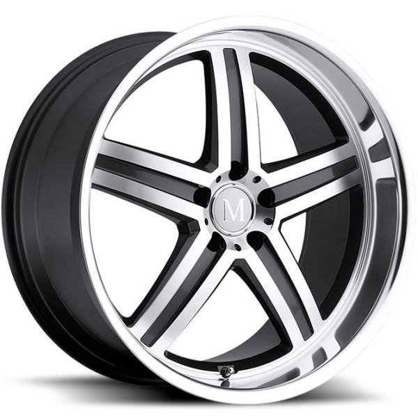 Mandrus Manheim Machine Gunmetal Mercedes Wheels Rims