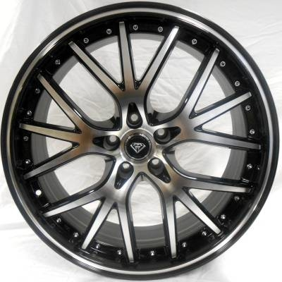 White Diamond W-530 Machined Black Wheels