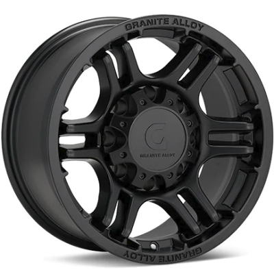 Granite Alloy GA640 8-Lug Black Wheels
