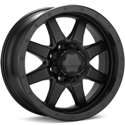 Granite Alloy GA643 8-Lug Black Wheels