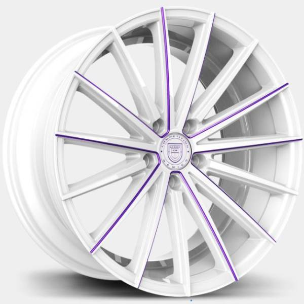 Lexani Pegasus Custom White with Purple Milliing