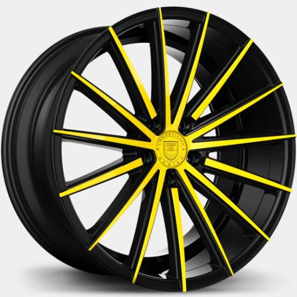 Lexani Pegasus Custom Black and Yellow Wheels