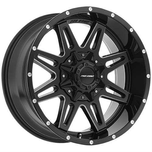 Pro Comp Series 8142 Blockade Gloss Black Milled