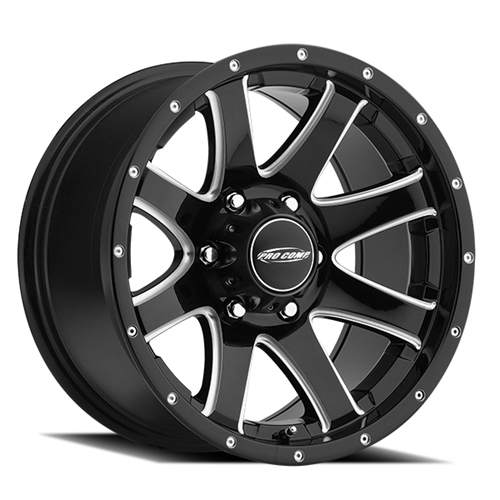 Pro Comp Series 8186 Reflex Gloss Black Milled