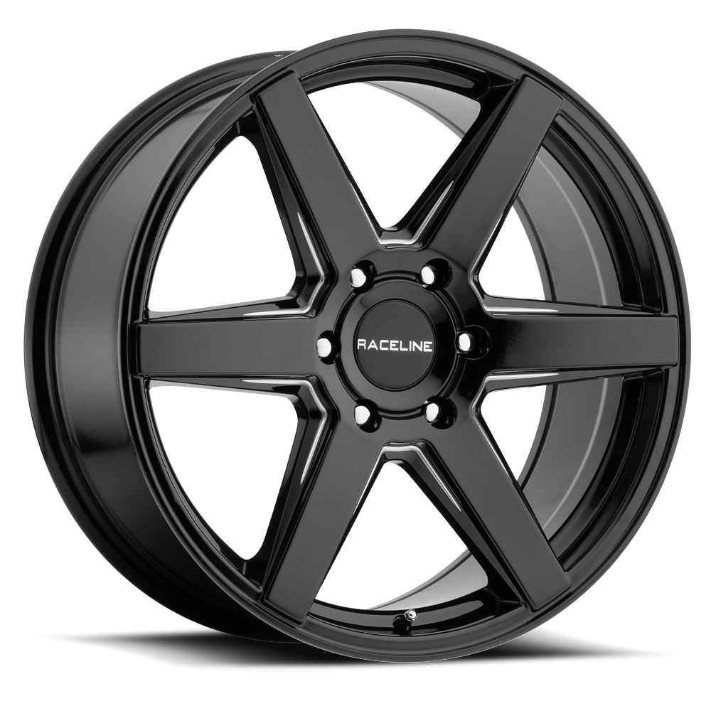 Raceline 156B Surge Gloss Black Wheels