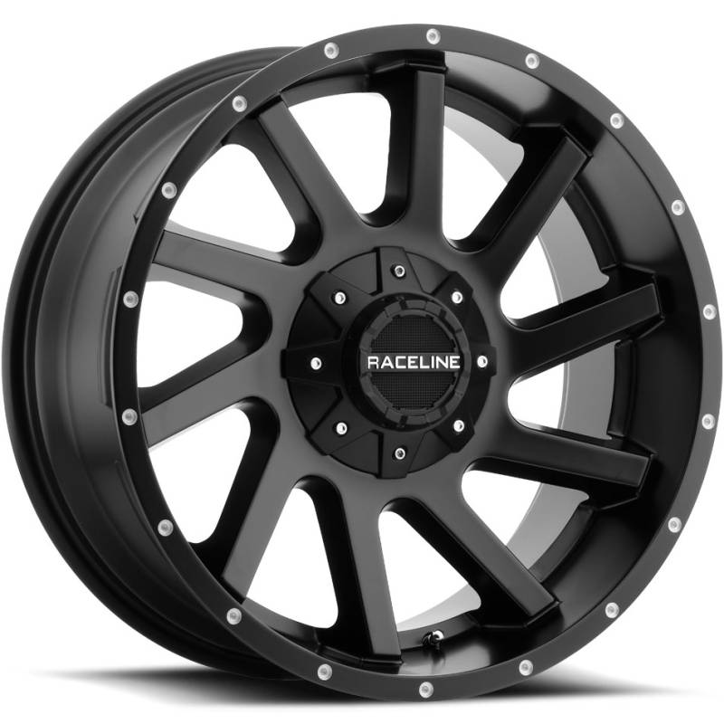 Raceline 932B Twist Satin Black Wheels